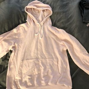 Sweaters - Oversized baby pink hoodie